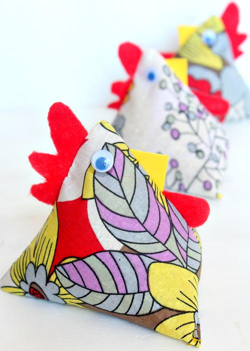 DIY Chicken Fabric Weights