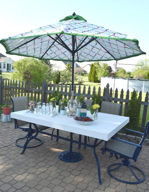 DIY Patio Table Transformation Idea