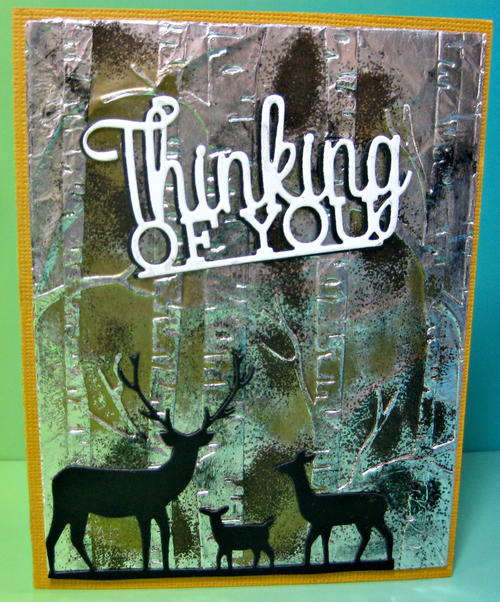Thinking of You Foil Embossed Card