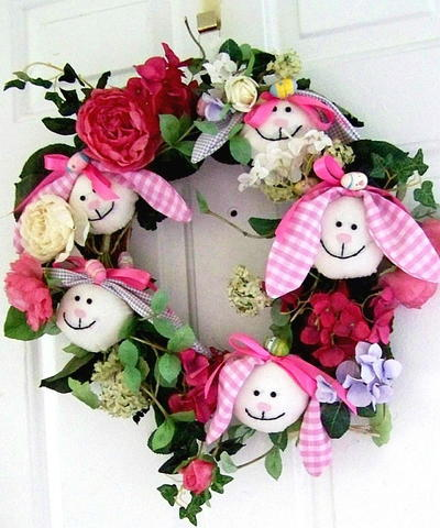 Easter Bunny DIY Wreath