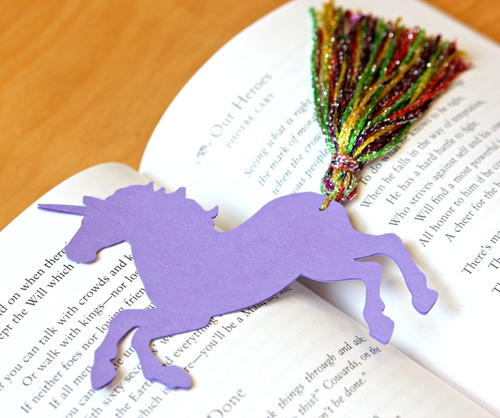Tiny Unicorn DIY Bookmarks