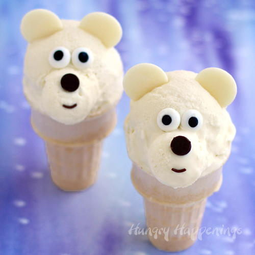 Chilly Polar Bear Ice Cream Cones