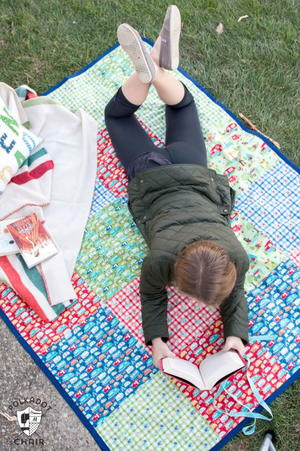 Patchwork Picnic Blanket Tutorial