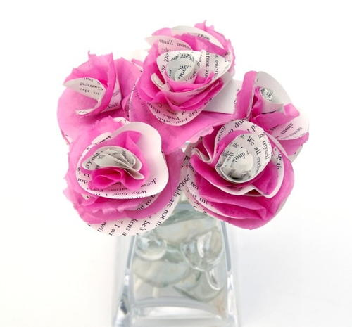 Nifty Book Page  Tissue Paper Flowers