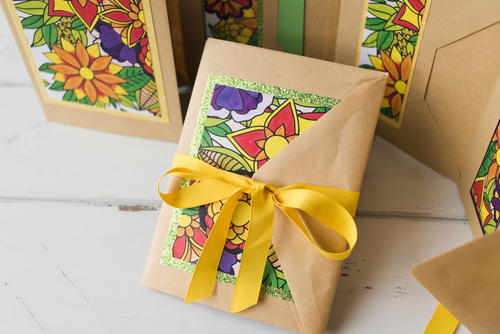 DIY Coloring Book Pages Gift Card FaveCrafts.com