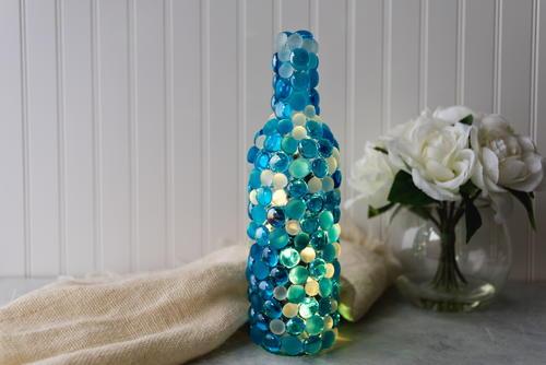 Twinkling Lights Wine Bottle Craft Favecrafts Com