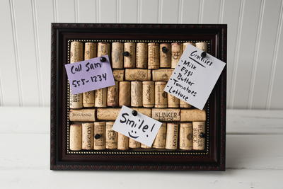 Wine Cork Bulletin Board