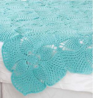 Tropical Pineapple Squares Crochet Blanket