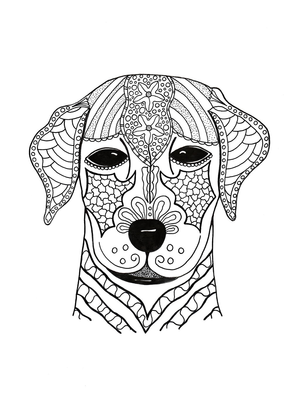 I Woof You Adult Coloring Page | FaveCrafts.com