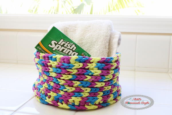 One Skein T-shirt Yarn Basket