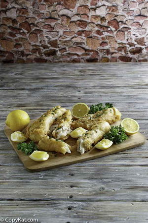 Old fashioned lemon garlic butter baked fish for Captain d s batter dipped fish