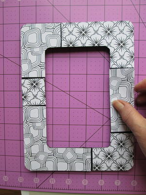 alternating patterns place sections on the frame until pleased with the arrangement cut additional sections or spacing strips if desired