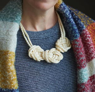 Stunning Simple Macrame Knot Necklace