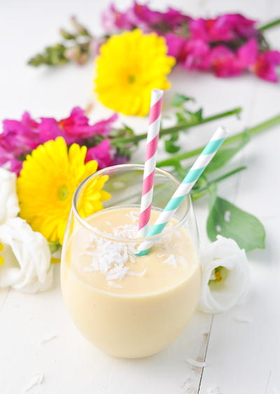 3-Ingredient Coconut Tropical Smoothie