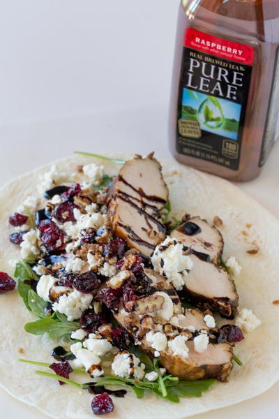 Balsamic Chicken Goat Cheese Wraps