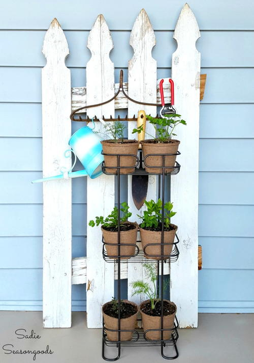 Upcycled Summer Herb Garden