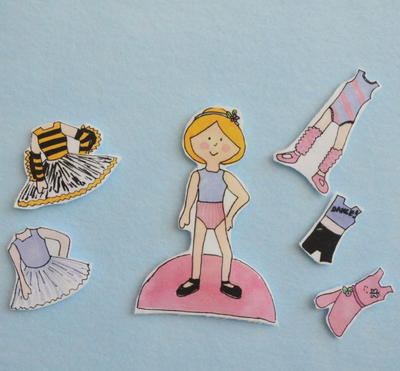 Beautiful Ballerina Printable Paper Doll