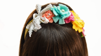 Fleece Flower DIY Headband