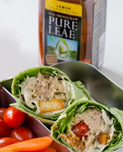 Slow Cooker Chicken Caesar Salad Wraps