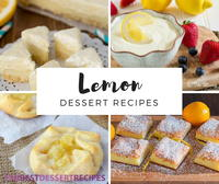41 Delicious Lemon Dessert Recipes