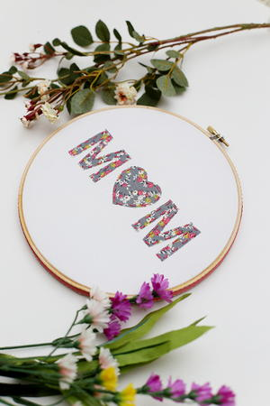 Mother's Day DIY Hoop Art