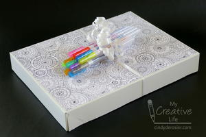 Coloring Book and Pens Gift Wrap