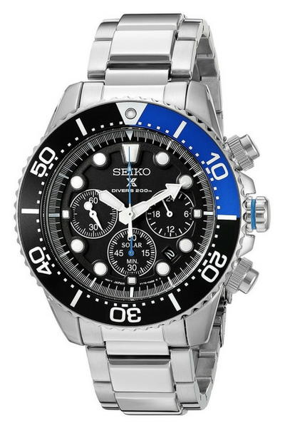 Seiko Prospex Solar Stainless Steel Dive Watch