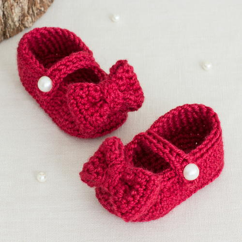 Ruby Red Mary Jane Booties Allfreecrochet Com