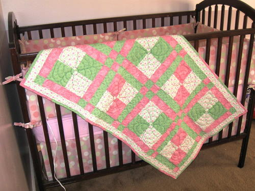Springtime Disappearing Nine Patch Baby Quilt