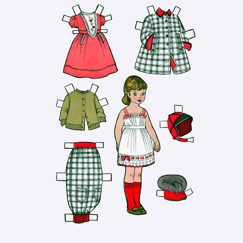Vintage Penny Printable Paper Doll