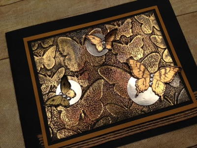 Impressions of Tarnished Foil Butterfly Card