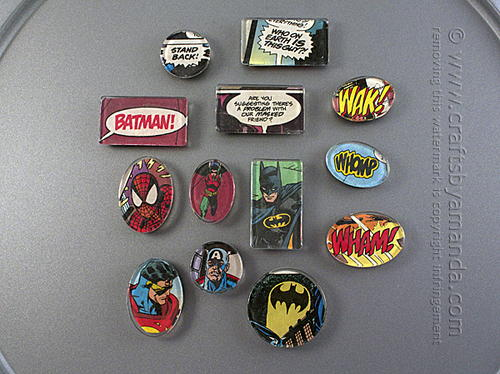 Flea Market Superhero Magnets