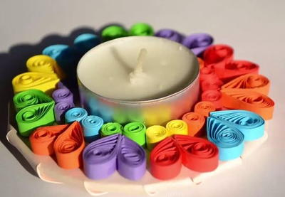 Quilled Paper Candle Holder