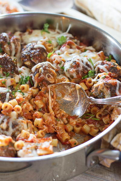One-Pot Pasta and Meatballs