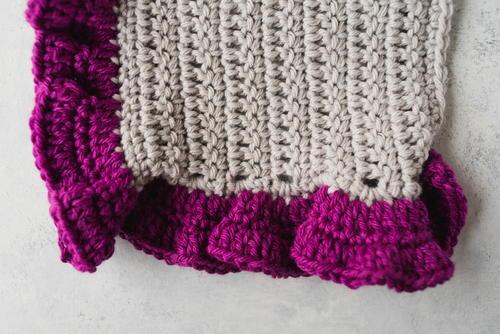 How To Crochet Ruffle Edging Allfreecrochetcom