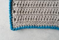 How to Crochet the Reverse Single Crochet Edging