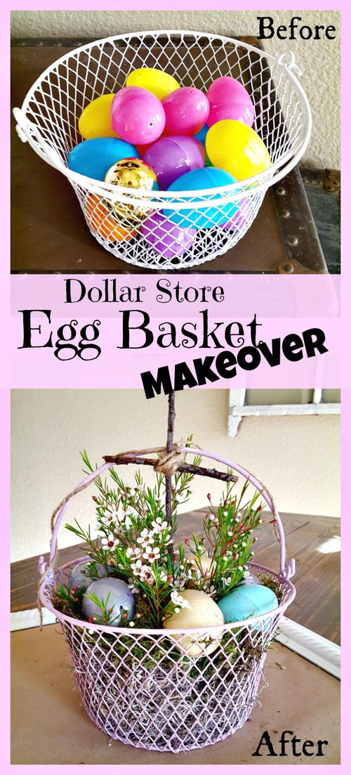 DIY Easter Egg Basket Makeover
