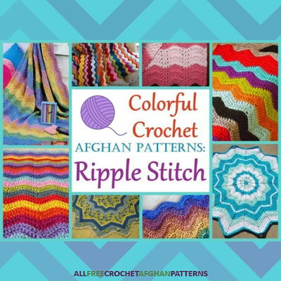 25 Colorful Crochet Afghan Patterns Ripple Stitch