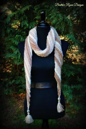 Sands of Time Crochet Scarf