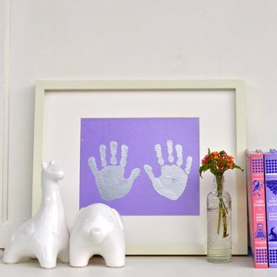 Heartwarming Hand Print Decor