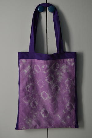 Royal Purple Tie Dye Tote Bag