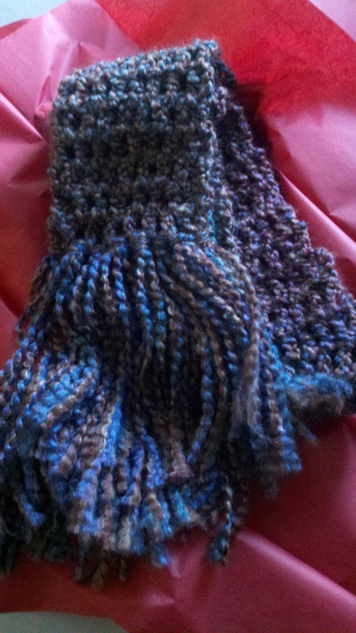 Free Crochet Patterns Homespun Yarn : 90 Minute Scarf AllFreeCrochet.com