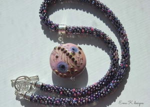 Perpetual Purple Kumihimo Necklace Tutorial