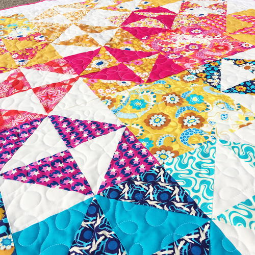 Bold Broken Dishes Throw Quilt