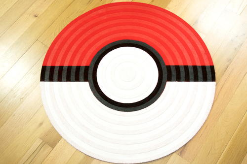 DIY Pokeball Rug