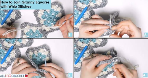 How To Join Granny Squares With Whip Stitches
