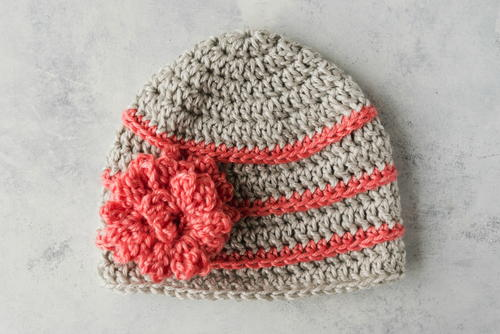 Quick Crochet Flower Hat