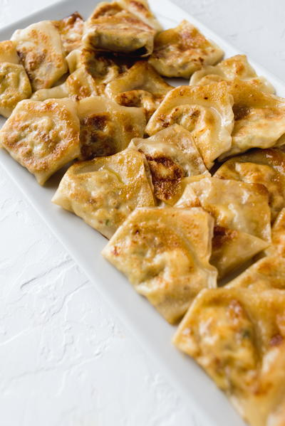 Artichoke and Feta Wontons