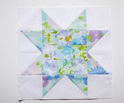 Pastel Patchwork Star Block Tutorial