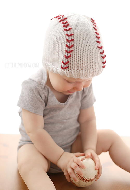 Baseball Baby Knit Hat